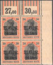 BG I.WK, MV Rumänien, Mi.Nr. 7 b W OER-4er-Bl. re. 1'4'1/1'5'1, postfrisch, FB