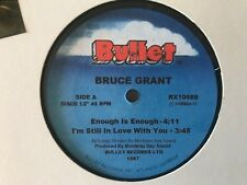 """BRUCE GRANT enough is enough / a matter of fact 1987 EP"""" KILLER FUNK  BOOGIE mp3"""