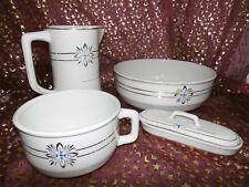 Antikes Waschset 4tlg. / Schönes Keramik Toilettenset / NIMY Made in Belgium