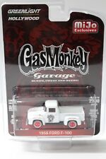 1:64 GreenLight ford f-100 White 1956 Gas Monkey New en Premium-modelcars