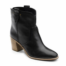 G.H. Bass & Co. Women's Sophia Genuine Leather Western Ankle Bootie Black