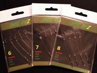 12 ReadyTied Chod Rigs Carp Fishing Tackle  Barbless or Barbed Sizes 6,7 or 8
