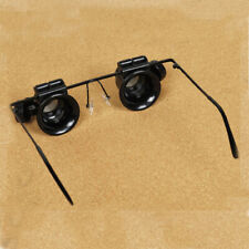 20X LED Double Eye Glass Loupe Lens Jeweler Magnifier Magnifying Watch Repair