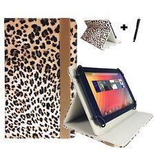 7 zoll Motiv Tablet Tasche Hülle Case - Huawei Ideos S7 Slim 7 - Leopard Pink 7