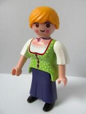 Playmobil Granja/castillo/occidental/victoriana Dollshouse: figura De Dama (verde) Nuevo