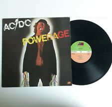 AC/DC POWERAGE VINYL LP 1ST PRESS ATLANTIC UK 1978 A1/B1 PORKY PRIME CUT