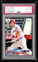 MIKE TROUT  ANGELS  2018 TOPPS #300 WHITE JERSEY  - PSA 10 GEM MINT   QTY.