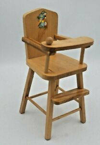Vintage Strombecker Wooden Doll High Chair 1950s