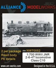 Alliance Model Works 1:700 WWII JNR 2-6-4T Locomotive Class C10 (2pcs) #NW70052
