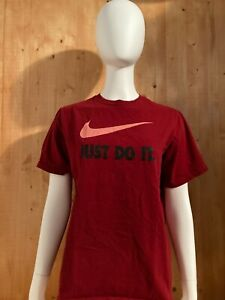 NIKE JUST DO IT Unisex T-Shirt Tee Shirt XL Xtra Extra Large Red
