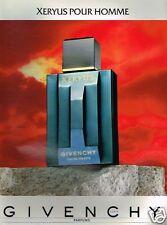 Publicité advertising 1986 Eau de Toilette pour homme Xeryus Givenchy