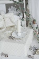Kerzenhalter Kerzenleuchter Kammerleuchter weiß Shabby Chic Vintage Landhaus