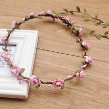 Mode Bunte Haarband Boheme geflochten Blumen Haarreif Stirnband Hippie Kopfband