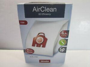 Miele FJM AirClean Vac Bags, Box Of 4 Bags + 2 Filters, 3D Efficiency (New)