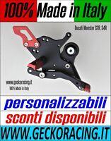 Pedane poggiapiedi arretrate Ducati Monster S2R S4R GeckoRacing 100% Made Italy