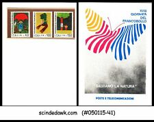 ITALY - 1976 STAMP DAY - SPECIAL FOLDER ( 3 MNH STAMPS)