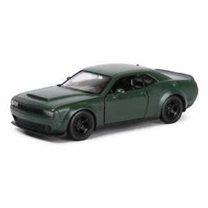 """Dodge Challenger SRT Demon, metal model, Matt green, 12см/ 5"""""""