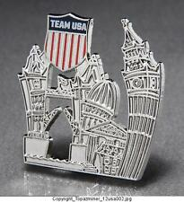 OLYMPIC PINS 2012 LONDON ENGLAND TEAM USA NOC SILVER ARTISTIC SKYLINE US LOGO