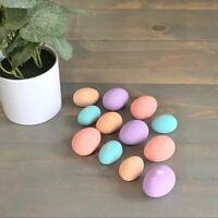 Vintage Floral Hand Painted Pastel Ceramic Easter Eggs Decorations