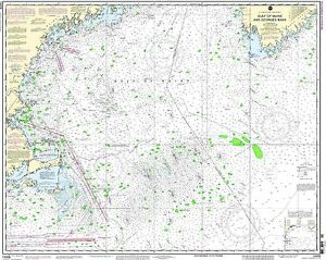 NOAA Chart Gulf of Maine and Georges Bank 36th Edition 13009