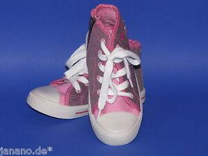 Filly Schuhe Sneaker Turnschuhe mit Reißverschluss Gr. 30 lila pink Glitzer Girl