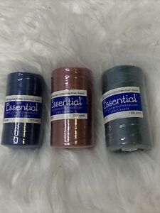 1200 yd Essential 100% COTTON Sewing Machine Thread  Size 50  Lot of 3