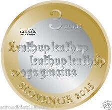 Pièce commémorative 3 euros SLOVENIE 2015 - Anniversaire du 1er texte imprimé