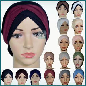 Bonnet Criss Cross Tube Viscose Hijab Cotton Cap Head Under scarf Bone Turban