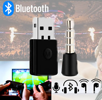 For PS4 Bluetooth Wireless USB Adapter Dongle Receiver for Headphone Microphone