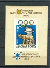 OLYMPIC GAMES ROME & SQUAW VALLEY HUNGARY 1960 bl B