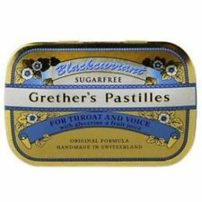 Grethers Pastilles Blackcurrant Sugarfree 2.125 oz. (24 Lozenges)