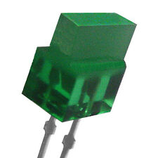 "(100) Rectangular Top Diffused Green Leds - 0.1"" x 0.3"" (3 mm x 8 mm) by Sanken"