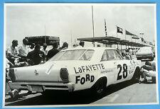 1965 Ford Galaxie NASCAR Car Lafayette 12 X 18 Black & White Picture