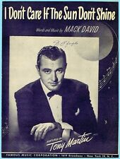 I DON'T CARE IF THE SUN DON'T SHINE by MACK DAVID w/ TONY MARTIN (1949)
