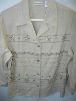WOMENS NEW NWT TAN BEIGE BROWN BLACK WHITE OVER BLOUSE TOP SHIRT SIZE 12 L 44
