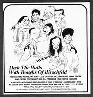 1986 Al Hirschfeld Drawings Frank Sinatra Tony Bennett Feiden Gallery print ad