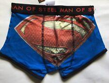 Boxer Para Hombre Ajustada Azul Con Detalle De Superman Talla XS