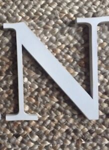 """Pottery Barn Kids Capital Wall Letters White """"N""""  or """"A"""" 10"""" 2 of EACH Available"""