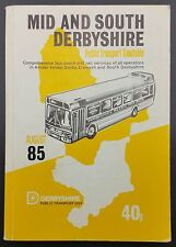 August 1985 Derbyshire Public Transport Timetable - Bus, Coach & Rail