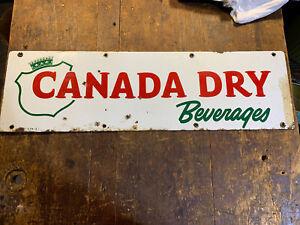 Canada Dry Beverages Porcelain Advertising Vintage Sign C-1174-3