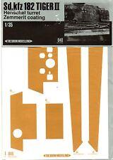 THE SHOW MODELLING 040 - 1/35 ZIMMERIT COATING Sd.kfz 182 TIGER II HENSCHEL