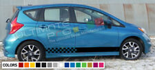 Stripes Decal kit for Nissan Note Side CARBON light mirror lip tune head cover