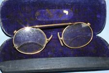 ANTIQUE PINCE NEZ SPECTACLES  - OPTICAL GLASSES - CASED