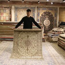 Clearance! Yilong 4'x6' Traditional Wool Area Rug Hand-knotted Home Carpets 2112