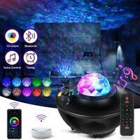 Smart WIFI LED Galaxy Starry Night Light Projector Ocean Sky Star Speaker Kids