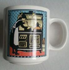 Vintage COTC Korea Cooking Woman Mother  Old Stove Coffee Mug Cup