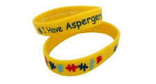 Have Aspergers Wristbands Alert Puzzle Medical Id Silicone Bracelet Emergency I