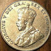 1936 CANADA 5 CENTS GEORGE V COIN - Nicer example!
