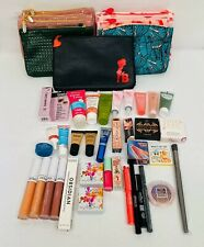 NEW Lot of 40+ Too Faced Smashbox OFRA Benefit Ciate Purlisse Makeup + Bags