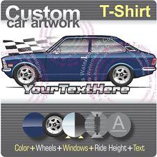 Custom T-shirt 1970 71 72-74 Toyota Corolla Sedan Ke20 Te20 Te21 Hi-Deluxe E20